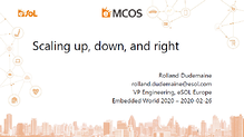 Presentation: Scaling up, down and right