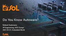 Presentation: Do You Know Autoware?