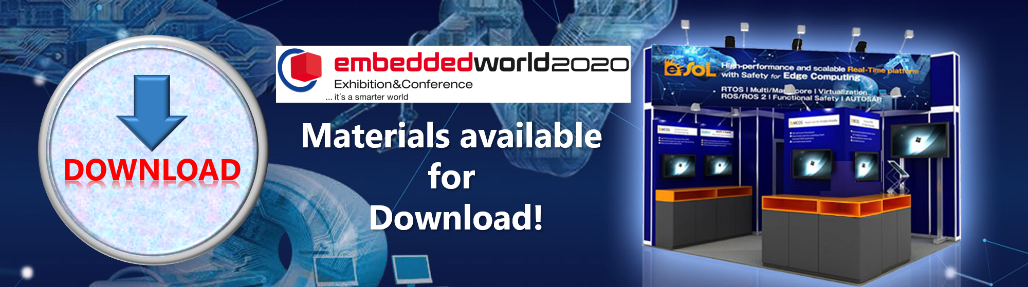 Embedded World 2020 materials available for Download!